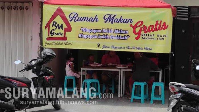 Rumah Makan Gratis di Kota Blitar, Siapapun Boleh Makan dan Siapapun Boleh Sedekah