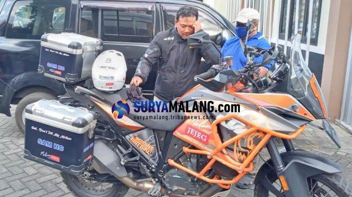 Potret Sam HC, Calon Independen Pilkada Malang 2020 yang Doyan Touring Motor Lintas Negara