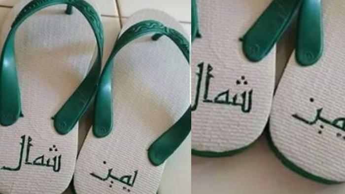 Heboh Tulisan Arab di Sandal, Netizen : Inilah Pentingnya Berilmu Sebelum Berkata dan Beramal