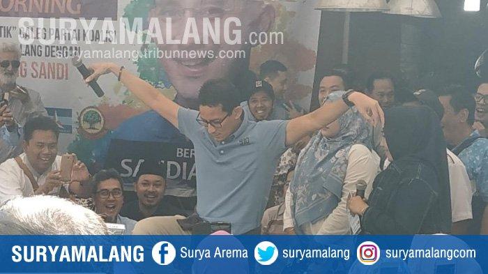 Soal Isu Demokrat Berdiri pada 2 Kaki, Sandiaga Uno Pamerkan Jurus Burung Bangau di Kota Malang