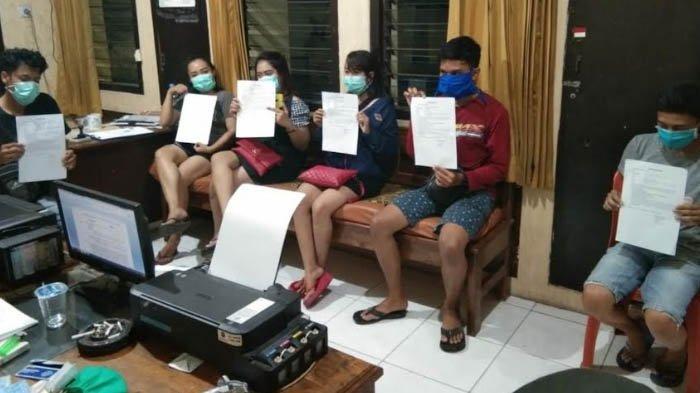 Sejumlah ABG Mojokerto Terciduk Nongkrong di Kafe & Karaoke, Polisi Lakukan Rapid Test Covid-19