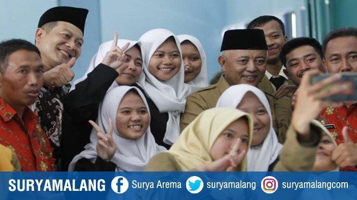 Bupati dan Ketua DPRD Malang, Sanusi-Didik Datang ke Sekolah Deklarasi Anti Narkoba di Pujon
