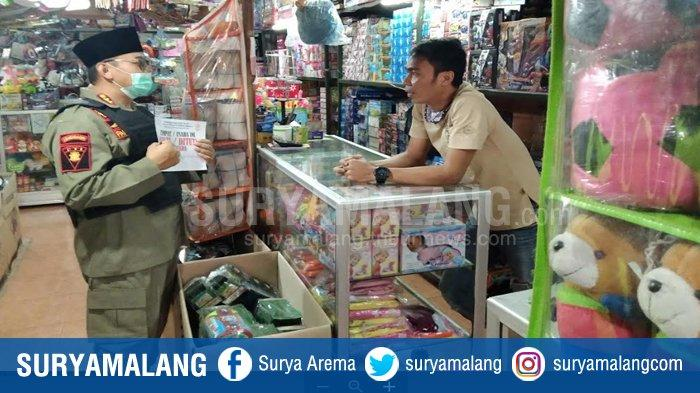 UPDATE PSBB Malang Raya:Menjelang Lebaran Petugas Berikan Teguran Tertulis Bagi Toko yang Tetap Buka