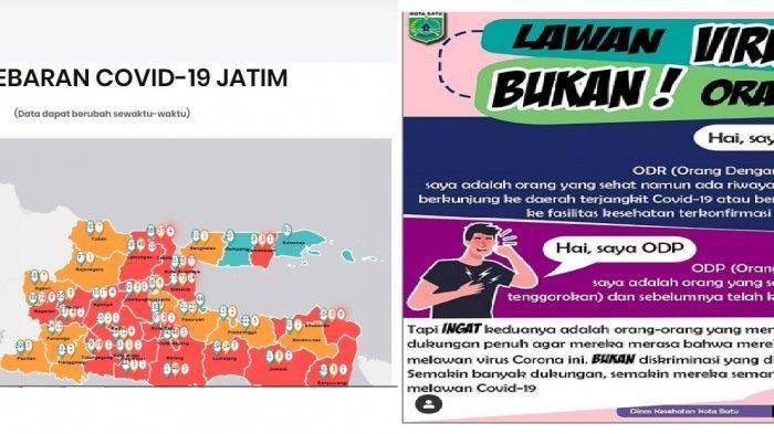 Update Peta Penyebaran Virus Corona di Malang Raya Jatim 5 April 2020: Pasien Covid-19 Kini 2 Orang