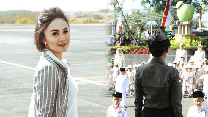 Sederet Pose Cantik Yuni Shara Jadi Pembina Upacara 17 Agustus, Tampil Beda Ala Pejuang Kemerdekaan