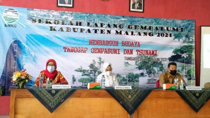 BMKG Gelar Sekolah Lapang Gempa Bumi di Sumbermanjing Wetan Malang, Ini Tujuannya