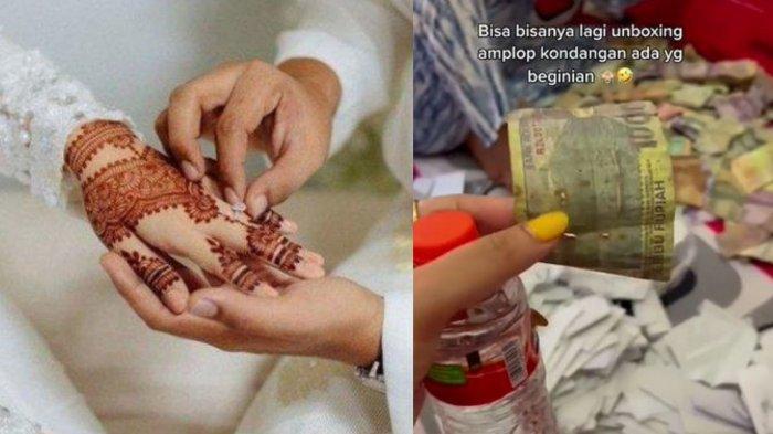Viral Malam Pertama Pengantin Hitung Uang Amplop di Atas Ranjang, Kaget Gegara Temuan Benda Kumal