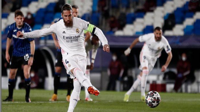 Hasil Liga Champions Real Madrid Menang dan Lolos Perempat Final, Sergio Ramos Sumbang Gol Penalti