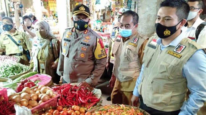 Sidak Pasar Kepanjen, Kapolres Malang Temukan Harga Sembako Turun