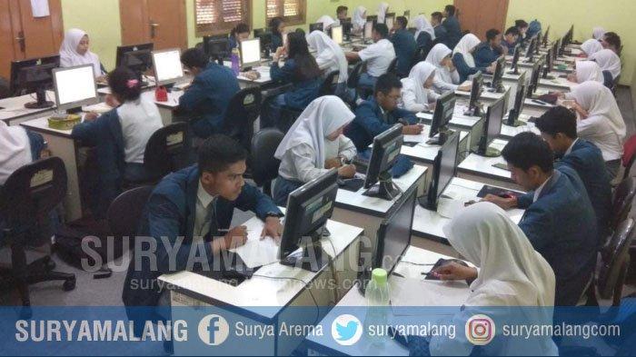 Sebanyak 7549 Pelajar SMA di Kota Malang Ikuti UNBK