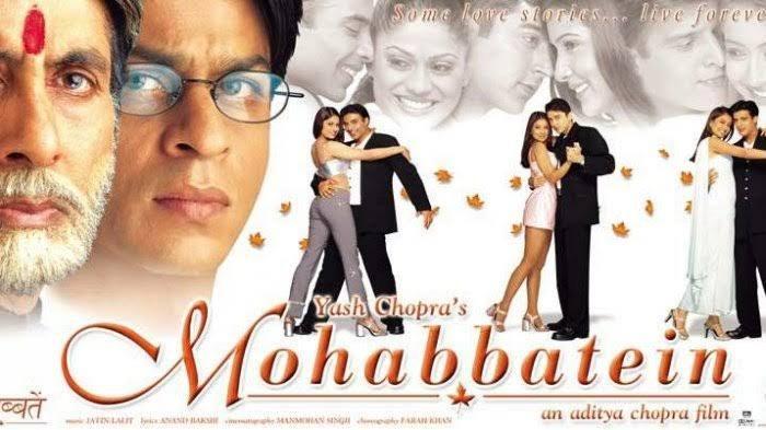 Sinopsis Film Mohabbatein Mega Bollywood ANTV Hari Ini, Dibintangi Shahrukh Khan