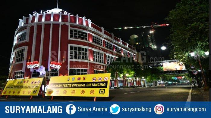 Surabaya Kembali Tutup 3 Jalan Protokol Jalankan Physical Distancing, Sanksi Sosial Juga Diterapkan