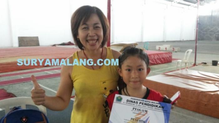 Siswi IGS Kota Malang Juara Senam Artistik Putri Dalam Ajang O2SN