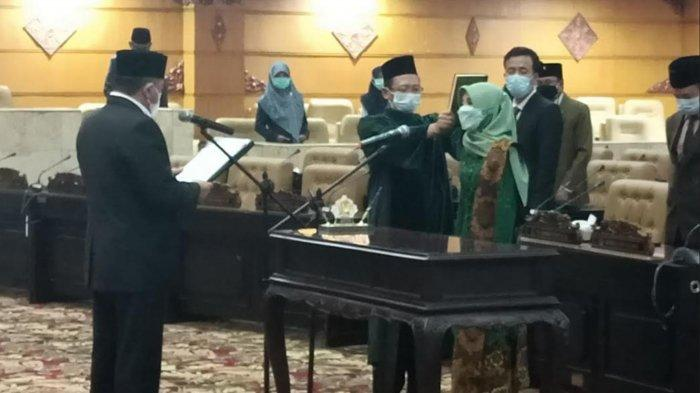 Sekretaris Muslimat NU Trenggalek Siti Mukiyarti Resmi Gantikan KH Kusni di Kursi PKB DPRD Jatim