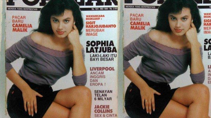 Sophia Latjuba di usia 19 tahun