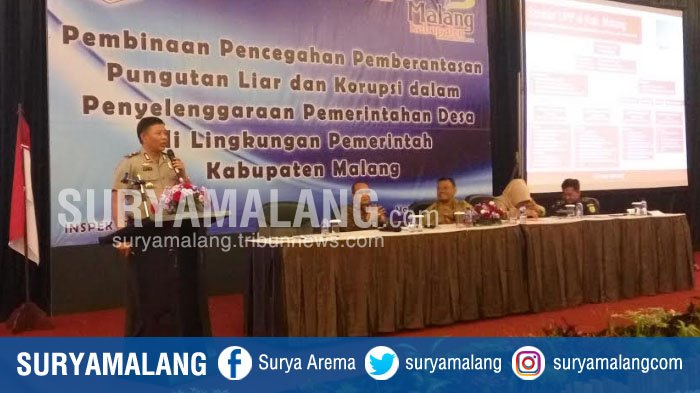 Satgas Saber Pungli Pusat Sosialisasi Cegah Korupsi di Kabupaten Malang