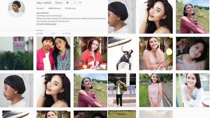 Akun Instagram Bayu, Pria Viral Pasang Billboard Rangkul Amanda Manopo