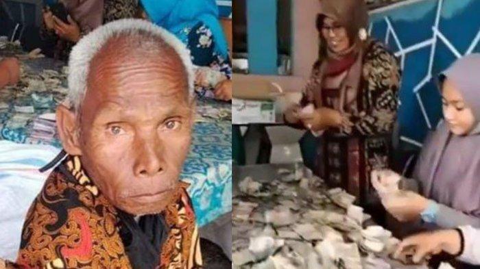 Siapa Kakek Biok? Tuna Rungu yang Viral Simpan Uang di Karung, Total Uangnya Hampir Rp 100 Juta