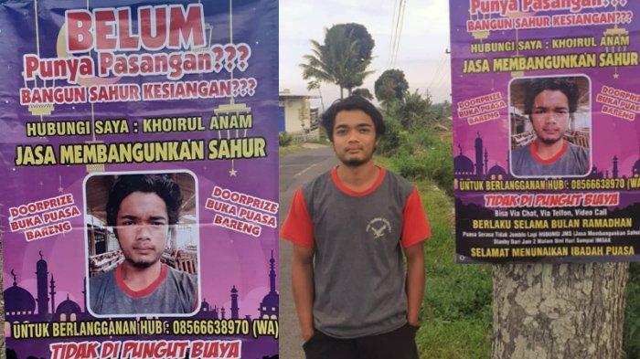 Pria Buka Jasa Membangunkan Sahur Gratis Viral, Promosi di Banner, Gaet 11 Pelanggan di Hari Pertama
