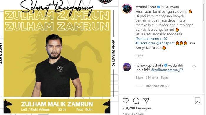 Sosok Zulham Zamrun yang disebut Atta Halilintar pemain Indonesia yang seperti Cristiano Ronaldo