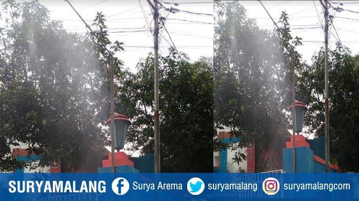 PMK Kota Malang Buat Sprayer Desinfektan, Semprot Kendaraan Yang Masuk Ke Mako PMK
