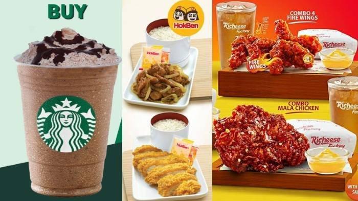 Promo Starbucks, Dominos Pizza, Richeese Factory, HokBen Hari Pahlawan: Buy 1 Get 1, Diskon 25 Ribu
