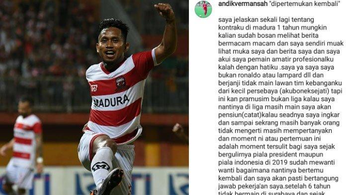 Jelang Persebaya Surabaya Vs Madura United, Andik Vermansah Bicara Soal Laga Liga 1 & Pensiun