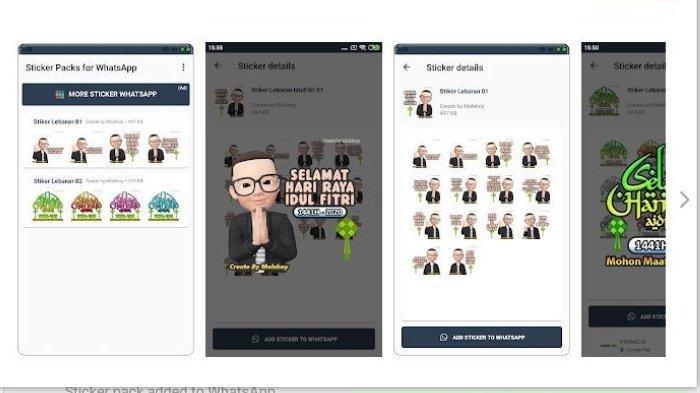 Link Download Stiker WhatsApp Bertema Idul Fitri 2020, Terdapat Ucapan Kartun Lucu Hingga Kata Kata