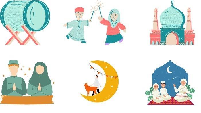 10 Stiker WhatsApp Lebaran 2021, Gambar Masjid, Takbir & Saling Memaafkan, Kartun Lucu dan Menarik