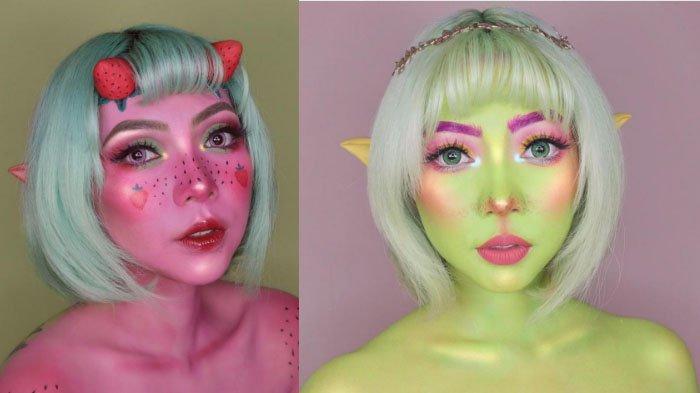 Strawbery dan Lime Fairy Look Ala Seniman Face Painting, Stephanie Alexa