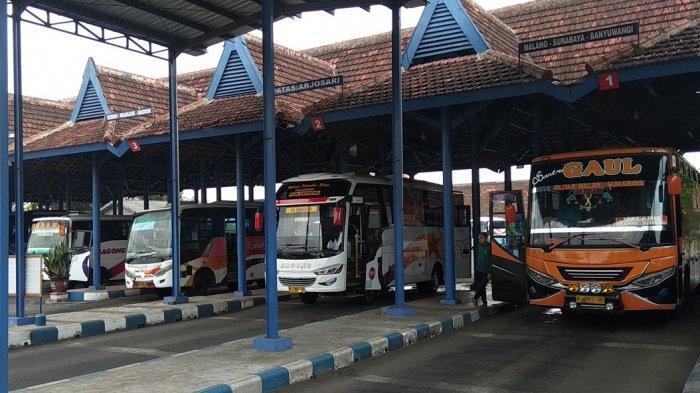 H-7 Lebarang Terminal Bus Masih Sepi, Untuk Stasiun Kereta Api Di Kota Blitar Mulai Ramai Penumpang