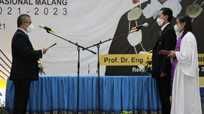 Prof Dr Eng Ir Abraham Lomi MSEEDilantik Sebagai Rektor ITN Malang Periode 2021-2023