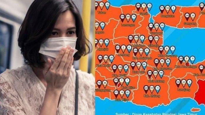 Ilustrasi saat pandemi Covid-19 dan Peta sebaran Covid-19
