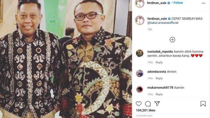Sule mengunggah foto lawas bersama Tukul Arwana