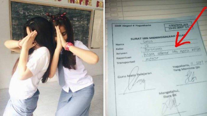 Alasan Siswi SMK Tinggalkan Kelas dengan Alasan Tak Terduga Ini Viral, Netizen Malah Ngakak!