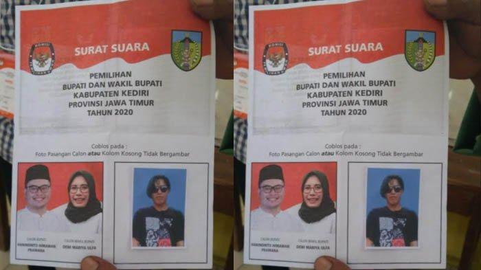 Fenomena Unik Pilkada Kediri 2020, Surat Suara Ditempeli Pas Foto Pemilih