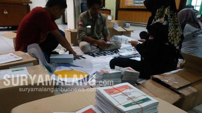 KPU Kota Malang Sudah Distribusikan 90 Persen Logistik Pemilu 2019 ke 5 Kecamatan