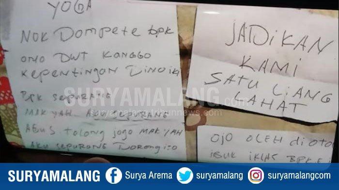 Surat Wasiat Mengharukan Pasutri Bunuh Diri di Wagir Malang, Pesan Nasihat untuk Para Anak