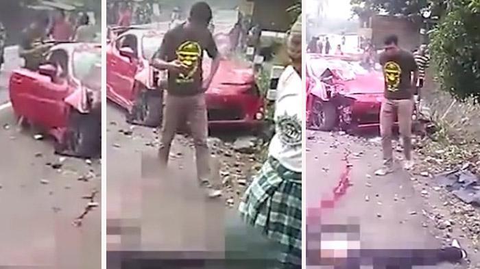 VIDEO : Tingkah Polisi Pengemudi Mobil Sport, Setelah Tabrak Mahasiswi Sampai Tewas