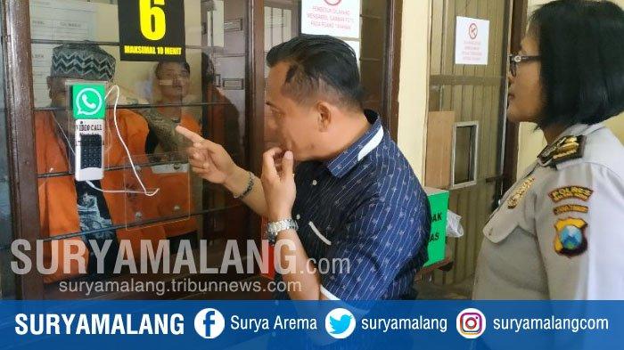 Kini Keluarga Bisa Video Call dengan Tahanan di Penjara Polres Malang Kota