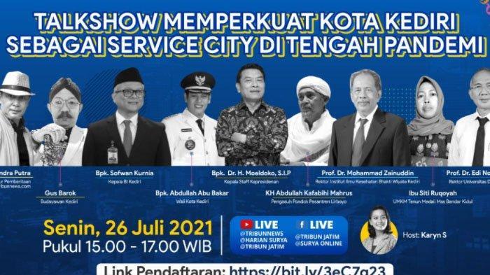 Rayakan Ultah ke-1142 Kota Kediri, Pemkot dan TribunJatim Network Gelar Talkshow Virtual Sore Ini