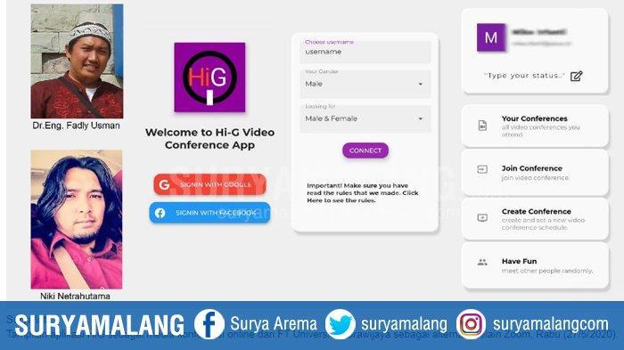 Fakultas Teknik Universitas Brawijaya Malang Buat Media Teleconference Bernama HiG