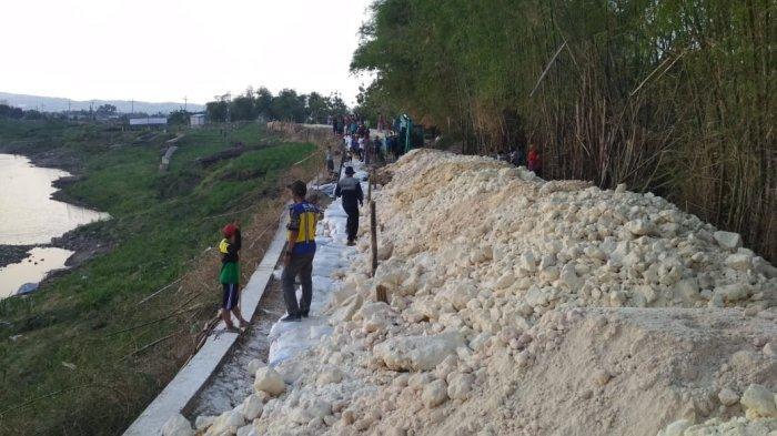 Tanggul Bengawan Solo di Tuban Amblas 80 Meter, Rawan Banjir saat Musim Hujan