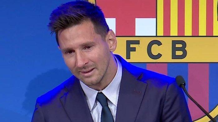 Tangisan Lionel Messi Saat Sampaikan Salam Perpisahan Pada Barcelona, Langsung Jawab Rumor ke PSG