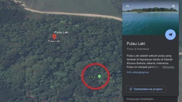 Viral Tanda SOS Muncul di Atas Pulau Laki, Area Jatuhnya Sriwijaya Air SJ 182, Ini Penjelasan Google