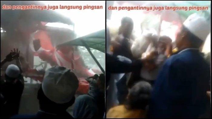 Tenda Pernikahan di Surabaya Ambruk Diterjang Hujan Angin, Pengantin Wanita Pingsan, Para Tamu Panik