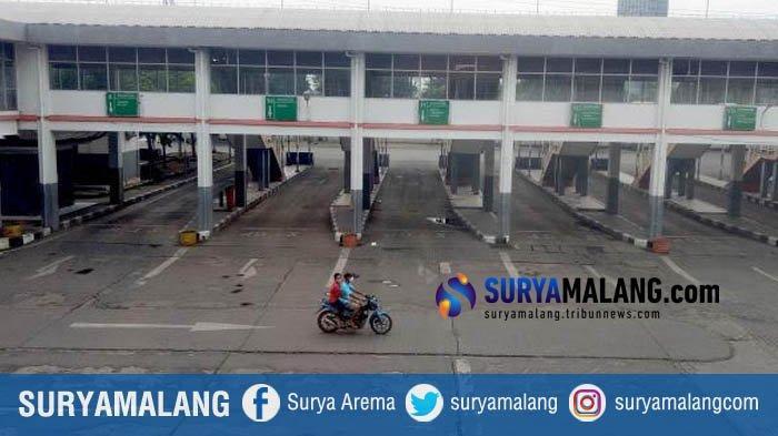 Imbas PSBB Surabaya Raya, Jalur Bus AKAP-AKDP Terminal Purabaya Dikosongkan. Pintu Keluar Ditutup