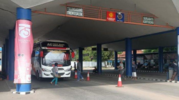 Jumlah Penumpang Bus di Terminal Tamanan Kota Kediri Turun Selama PPKM Mikro Darurat