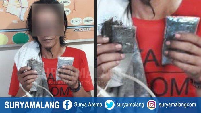 Pengedar Ganja dan Sabu Kota Malang Asal Blimbing Ditangkap Anggota Polsek Sukun, Bawa  6 Poket