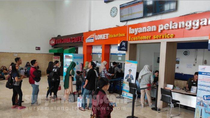 Tiket Kereta Api dari Stasiun Malang Sudah Habis Terjual Hingga H+15 Khususnya Relasi KA Jarak Jauh